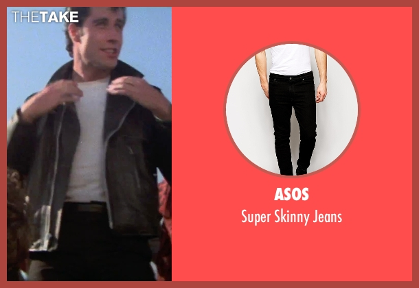 ASOS black jeans from Grease seen with John Travolta (Danny)