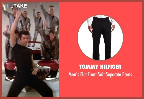 Tommy Hilfiger black pants from Grease seen with John Travolta (Danny)