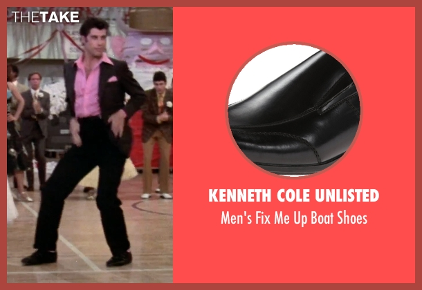 Kenneth Cole Unlisted black shoes from Grease seen with John Travolta (Danny)