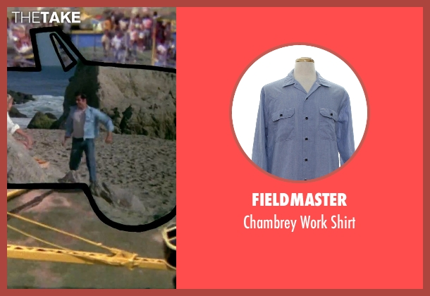 Fieldmaster blue shirt from Grease seen with John Travolta (Danny)