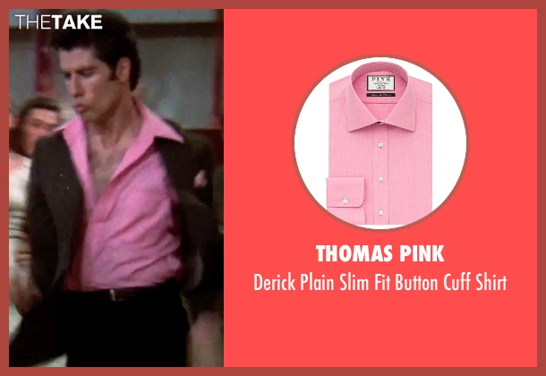 Thomas Pink pink shirt from Grease seen with John Travolta (Danny)