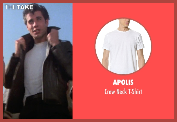 Apolis white t-shirt from Grease seen with John Travolta (Danny)