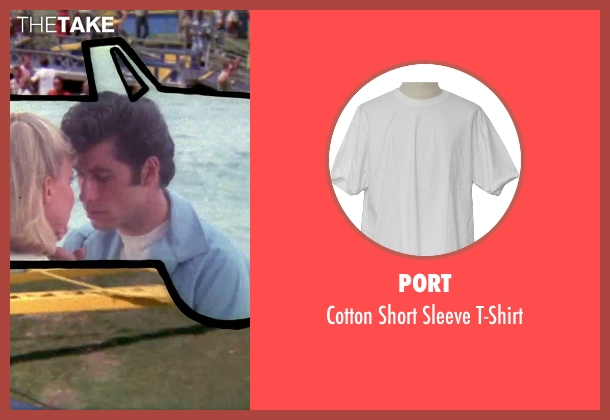 Port white t-shirt from Grease seen with John Travolta (Danny)