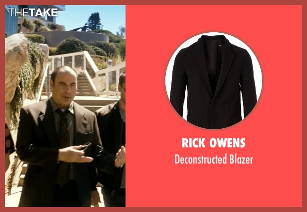 Rick Owens black blazer from Savages seen with John Travolta (Dennis)