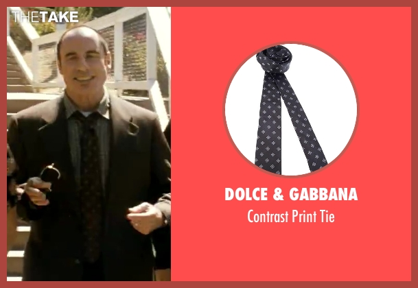 Dolce & Gabbana black tie from Savages seen with John Travolta (Dennis)