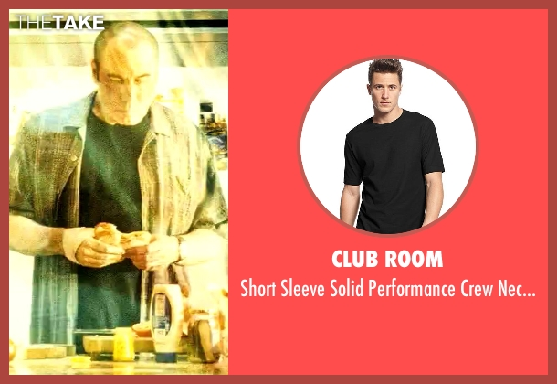 Club Room black t-shirt from Savages seen with John Travolta (Dennis)