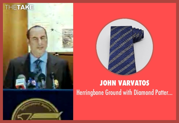 John Varvatos blue tie from Savages seen with John Travolta (Dennis)