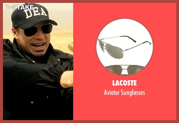 Lacoste gold sunglasses from Savages seen with John Travolta (Dennis)