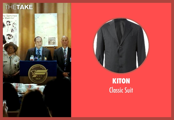 Kiton gray suit from Savages seen with John Travolta (Dennis)