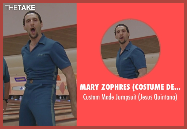 Mary Zophres (Costume Designer) blue jumpsuit from The Big Lebowski seen with John Turturro (Jesus Quintana)