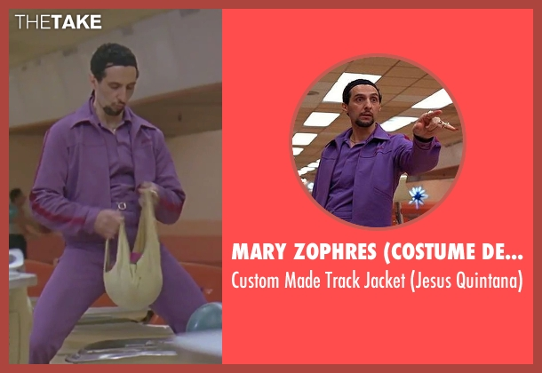 Mary Zophres (Costume Designer) purple jacket from The Big Lebowski seen with John Turturro (Jesus Quintana)