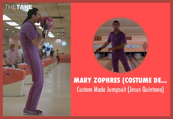 Mary Zophres (Costume Designer) purple jumpsuit from The Big Lebowski seen with John Turturro (Jesus Quintana)