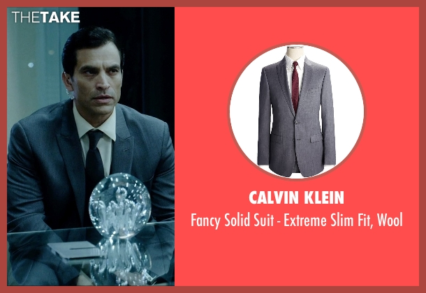 Calvin Klein gray wool from Vice seen with Johnathon Schaech (Chris A.)