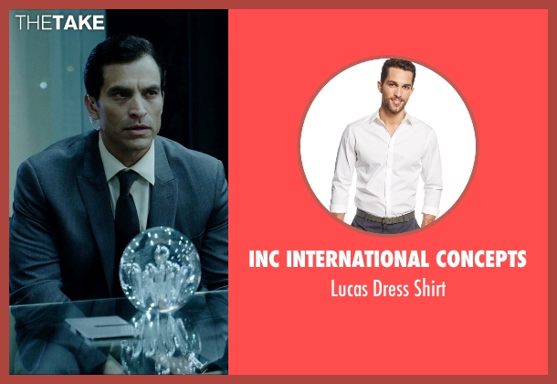 INC International Concepts white shirt from Vice seen with Johnathon Schaech (Chris A.)