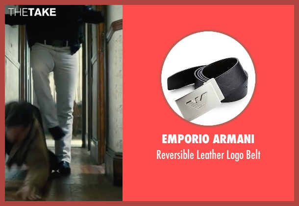 Emporio Armani black belt from Black Mass seen with Johnny Depp (Whitey Bulger)