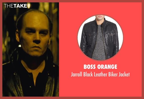 Boss Orange black jacket from Black Mass seen with Johnny Depp (Whitey Bulger)