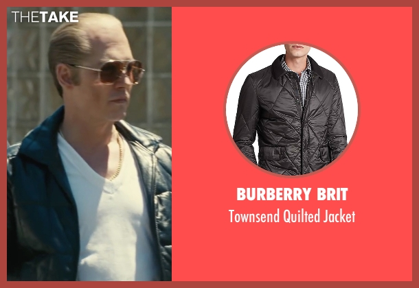 Burberry Brit black jacket from Black Mass seen with Johnny Depp (Whitey Bulger)