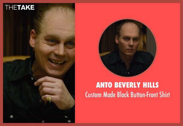Anto Beverly Hills black shirt from Black Mass seen with Johnny Depp (Whitey Bulger)