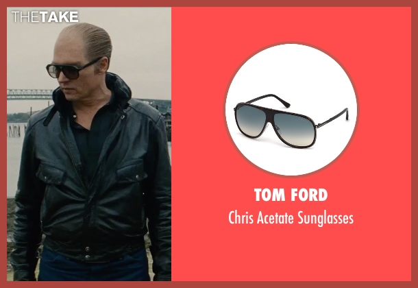 Tom Ford black sunglasses from Black Mass seen with Johnny Depp (Whitey Bulger)