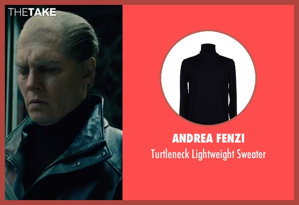 Andrea Fenzi black sweater from Black Mass seen with Johnny Depp (Whitey Bulger)
