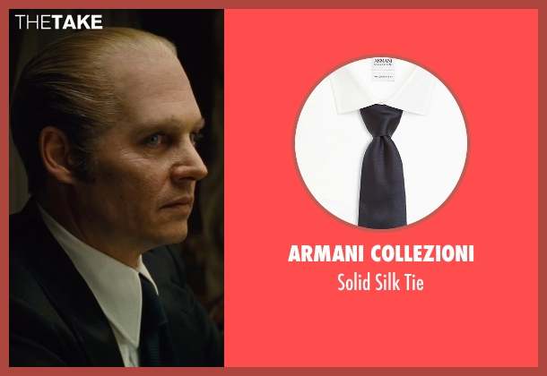 Armani Collezioni blue tie from Black Mass seen with Johnny Depp (Whitey Bulger)