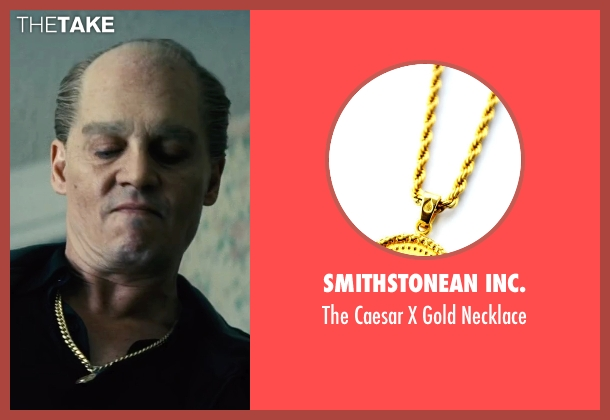 Smithstonean Inc. gold necklace from Black Mass seen with Johnny Depp (Whitey Bulger)
