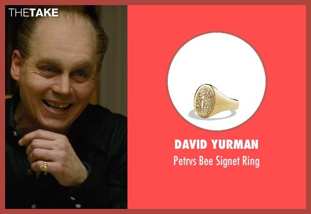 David Yurman gold ring from Black Mass seen with Johnny Depp (Whitey Bulger)