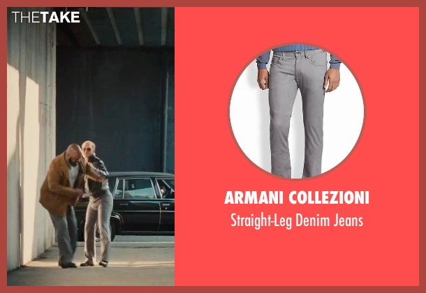 Armani Collezioni gray jeans from Black Mass seen with Johnny Depp (Whitey Bulger)
