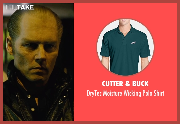 Cutter & Buck green shirt from Black Mass seen with Johnny Depp (Whitey Bulger)