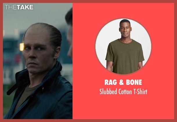 Rag & Bone green t-shirt from Black Mass seen with Johnny Depp (Whitey Bulger)