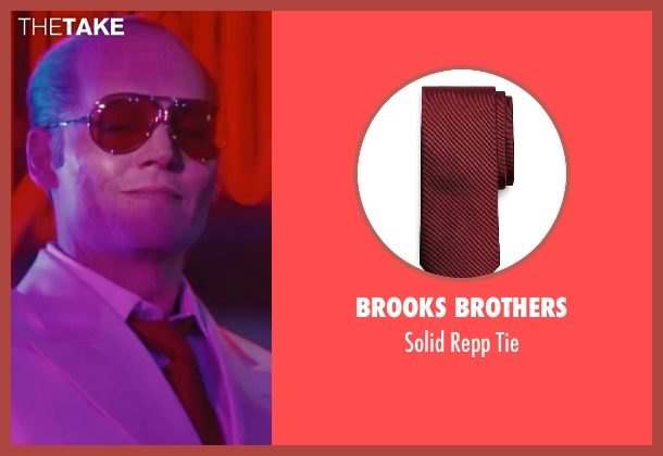 Brooks Brothers red tie from Black Mass seen with Johnny Depp (Whitey Bulger)