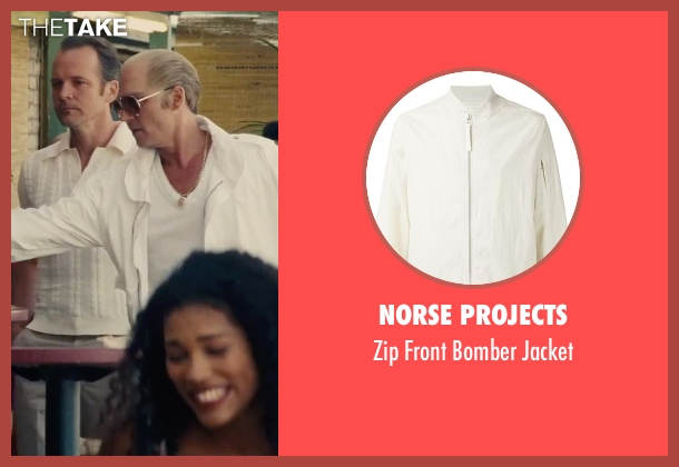 Norse Projects white jacket from Black Mass seen with Johnny Depp (Whitey Bulger)