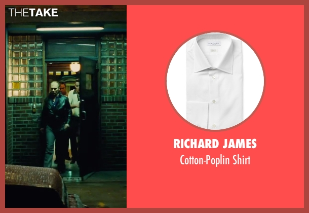 Richard James white shirt from Black Mass seen with Johnny Depp (Whitey Bulger)