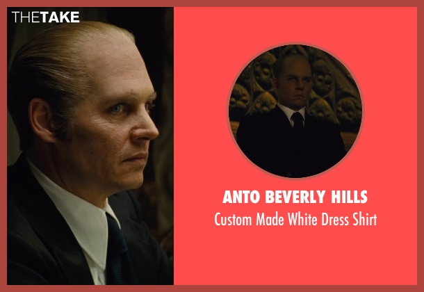Anto Beverly Hills white shirt from Black Mass seen with Johnny Depp (Whitey Bulger)