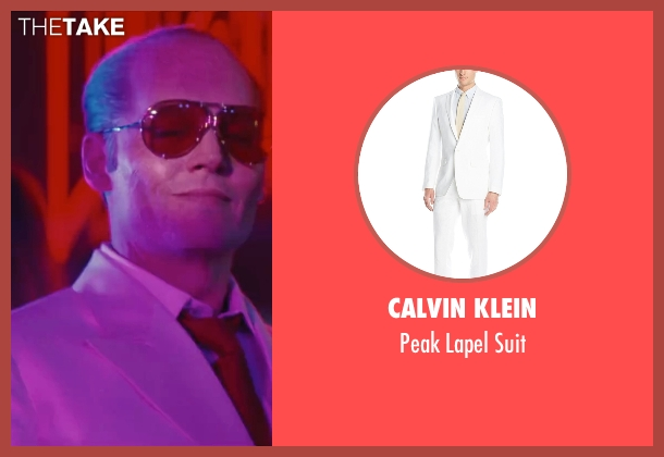 Calvin Klein white suit from Black Mass seen with Johnny Depp (Whitey Bulger)