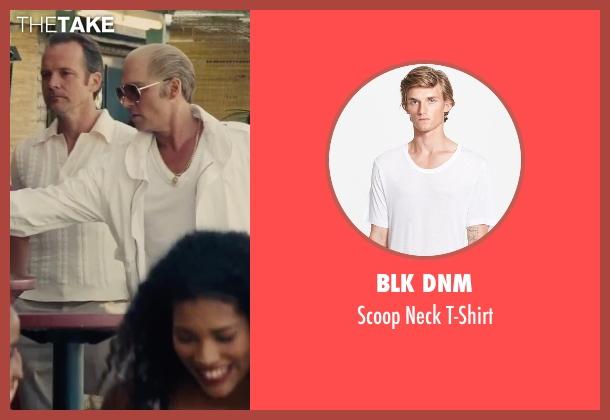 Blk Dnm white t-shirt from Black Mass seen with Johnny Depp (Whitey Bulger)