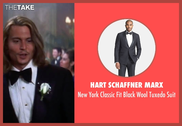 Hart Schaffner Marx black suit from Blow seen with Johnny Depp (George Jung)
