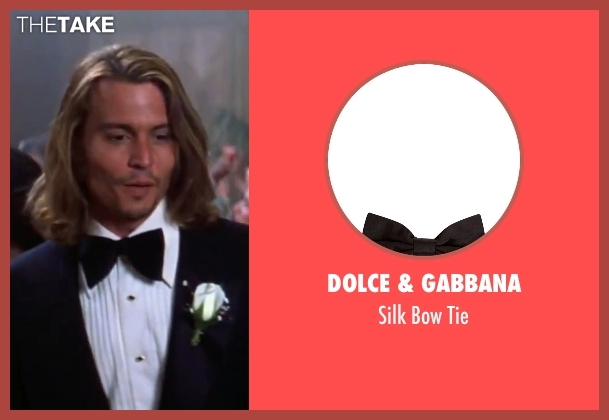 Dolce & Gabbana black tie from Blow seen with Johnny Depp (George Jung)