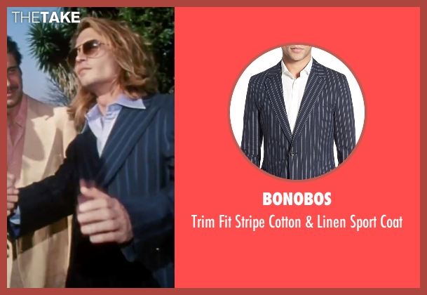 Bonobos blue coat from Blow seen with Johnny Depp (George Jung)