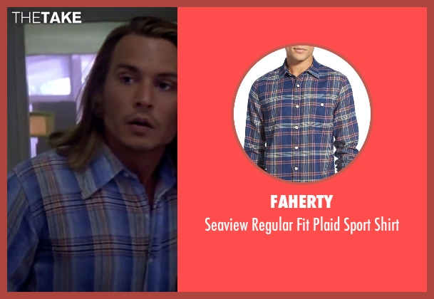 Faherty blue shirt from Blow seen with Johnny Depp (George Jung)