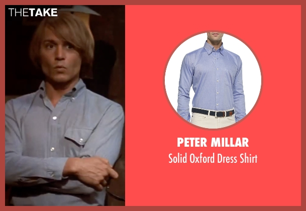 Peter Millar blue shirt from Blow seen with Johnny Depp (George Jung)