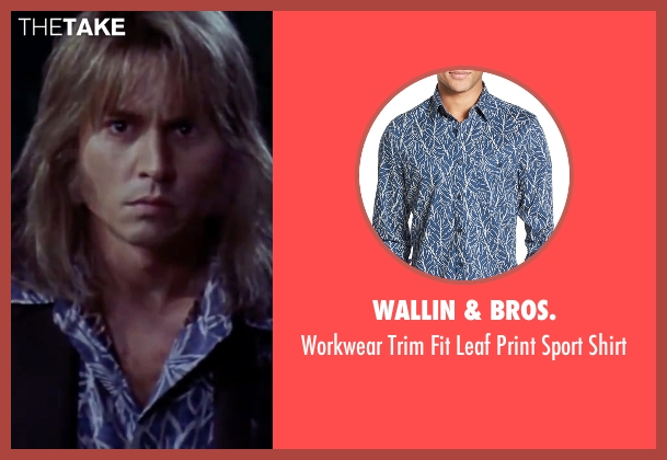 Wallin & Bros. blue shirt from Blow seen with Johnny Depp (George Jung)