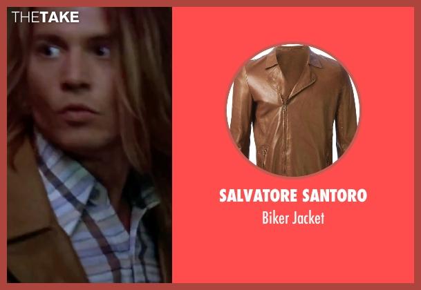 Salvatore Santoro brown jacket from Blow seen with Johnny Depp (George Jung)