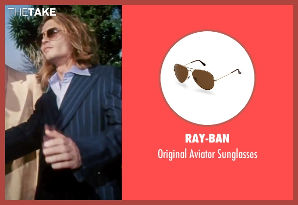 Ray-Ban brown sunglasses from Blow seen with Johnny Depp (George Jung)