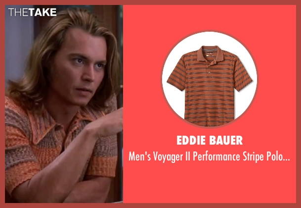 Eddie Bauer orange shirt from Blow seen with Johnny Depp (George Jung)