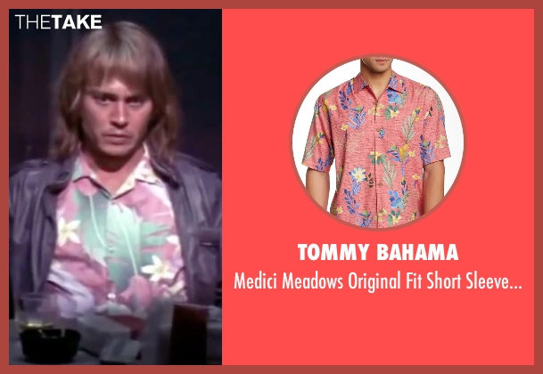 Tommy Bahama pink shirt from Blow seen with Johnny Depp (George Jung)