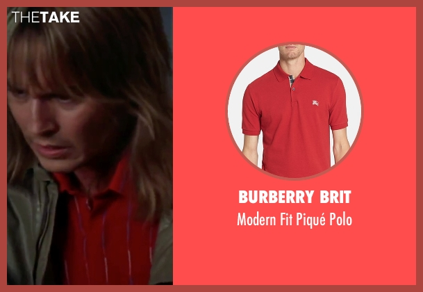 Burberry Brit red polo from Blow seen with Johnny Depp (George Jung)