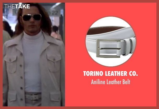 Torino Leather Co. white belt from Blow seen with Johnny Depp (George Jung)