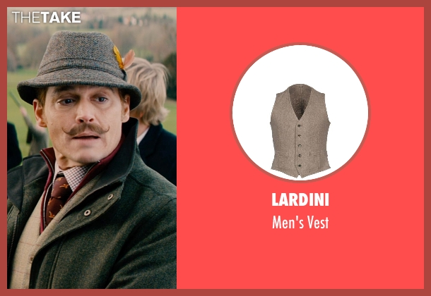 Lardini beige vest from Mortdecai seen with Johnny Depp (Charles Mortdecai)