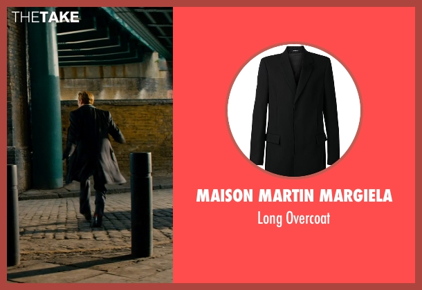 Maison Martin Margiela black overcoat from Mortdecai seen with Johnny Depp (Charles Mortdecai)